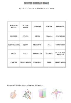 Bingo for Christmas + 3 Other Winter Holidays