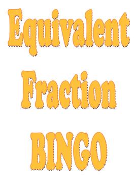 Bingo for Equivalent Fractions