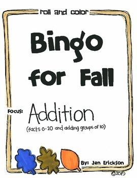 Bingo for Fall:  Addition