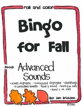 Bingo for Fall:  Advanced Sounds