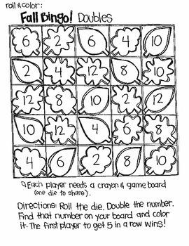 Bingo for Fall:  Doubles Plus