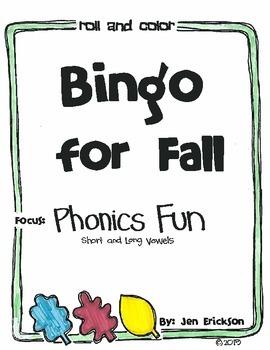 Bingo for Fall:  Phonics Fun