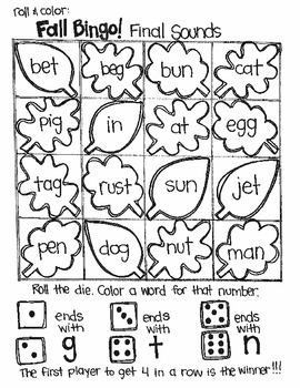 Bingo for Fall:  Simple Sounds