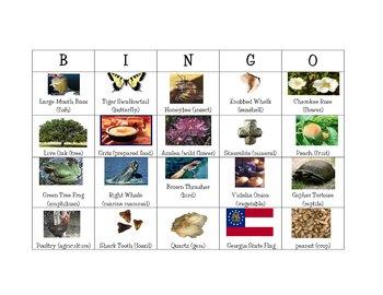 Bingo for Georgia symbols