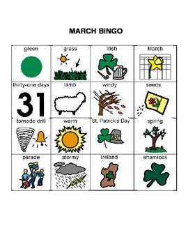 Bingo for March