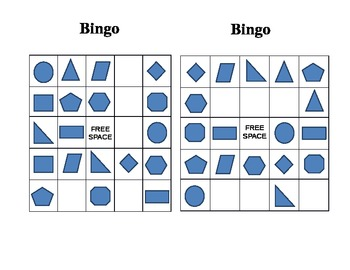 Bingo for Shapes