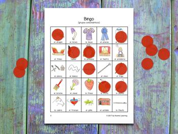 Bingo for Spanish Consonant Blends - Bingo de grupos consonánticos