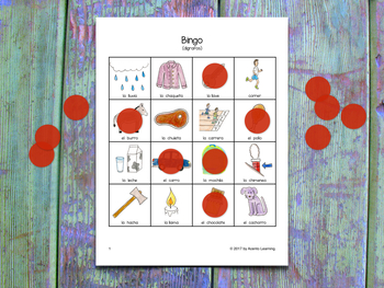 Bingo for Spanish Digraphs - Bingo de dígrafos