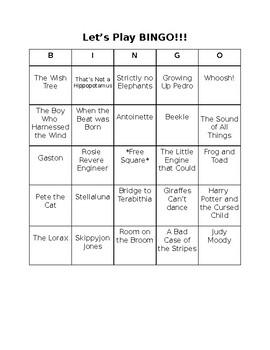 Bingo for books!