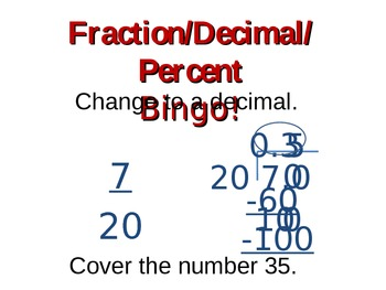 Bingo for faction/decimal/percent conversion