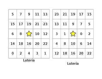 Bingo for numbers 0-23