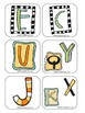 Bingo letters E, C, J, U, K, Y, Q and X (Learning Cube inserts)