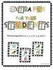 Bingo letters E, C, J, U, K, Y, Q and X (Learning Cube inserts)