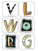 Bingo letters V, L, W, O, R and G (Learning Cube inserts)