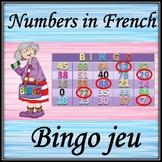 Bingo listening  game. French numbers. ( 0-100)