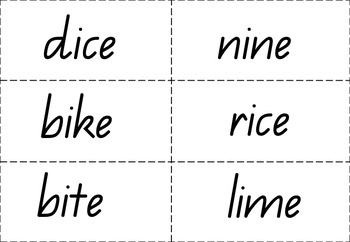 Bingo- magic e/bossy e/silent e