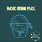 Bingo multipack: 3 Basic Bingo sheets, bingo cards, and bo