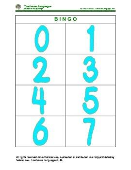 Bingo: numbers 0-10