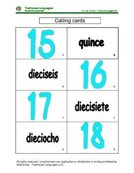 Bingo: numbers 11-20