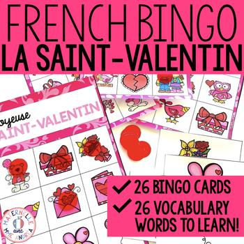 Bingo pour la Saint-Valentin (FRENCH Valentine's Day Bingo)