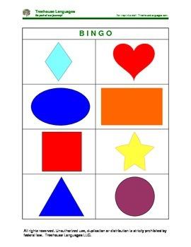 Bingo: shapes
