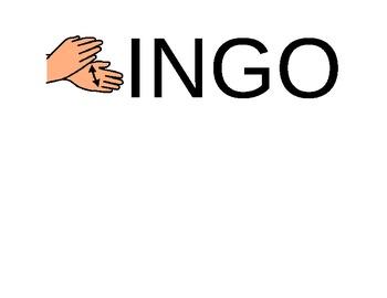 Bingo song visual aid