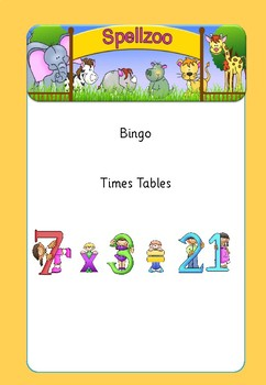 Bingo times tables mixed 6s - 10s