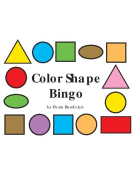 Bingo with Colors and Shapes