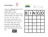 Bingo with Physics Vocabulary