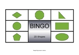 Bingo with Shapes - 10 unique game boards
