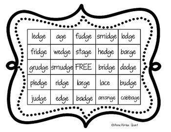 Bingo with Soft G and Soft C