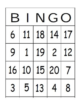 Bingo with numbers/Bingo con numeros