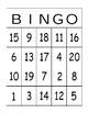 Bingo with numbers/Bingo con numeros