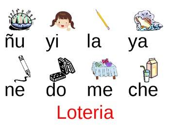 Bingo/Loteria de silabas