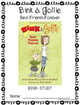 Bink and Gollie- Best Friends Forever Book Study(Reading Comprehension)