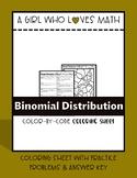 Binomial Distribution Coloring Sheet