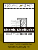 Binomial Distribution Coloring Sheet