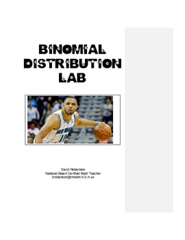 Binomial Distribution & Probability Activity Eric Gordon Free Throw Lab