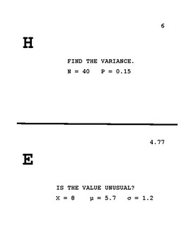Binomial Distribution Scavenger Hunt
