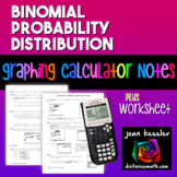 Statistics Binomial Distribution TI 83 84 Plus Worksheet