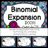 Binomial Expansion Boom Cards--Digital Task Cards