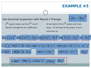 Binomial Expansion (Pascal's Triangle)