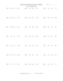 Binomial Multiplication (FOIL) Practice Worksheet Generator (with Coefficients)