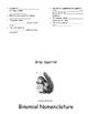 Binomial Nomenclature Folded Paper