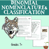 Binomial Nomenclature and Classification