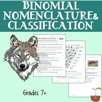 Binomial Nomenclature and Classification
