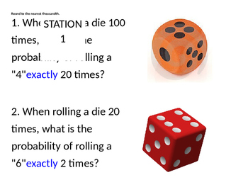 Binomial Probability Stations Activity
