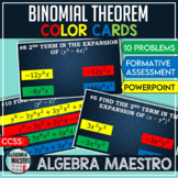 Binomial Theorem Color Cards