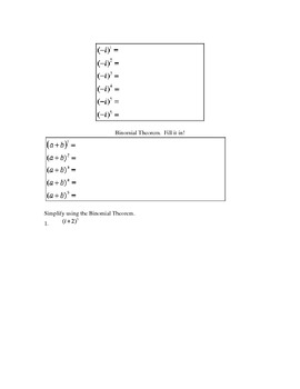 Binomial Theorem & Complex Numbers
