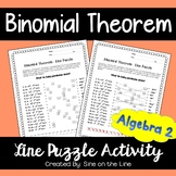 Binomial Theorem: Line Puzzle Activity